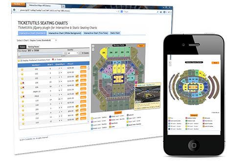 Interactive seating charts licensable venue maps ticket utils